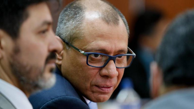 Jorge Glas, vice-presidente afastado do Equador, durante uma audiência na semana passada.