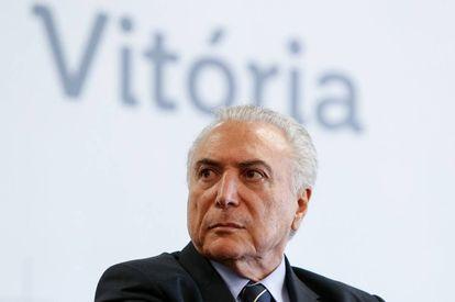 Michel Temer, em um ato na quinta-feira passada em Vitória do Espírito Santo