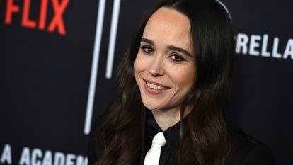 A atriz Ellen Page em Los Angeles em 2019.