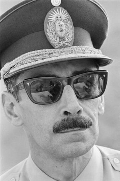 O ditador argentino Jorge Rafael Videla em 1976