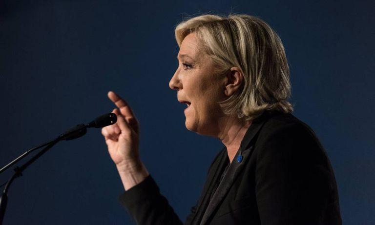A candidata presidencial da Frente Nacional, Marine Le Pen.