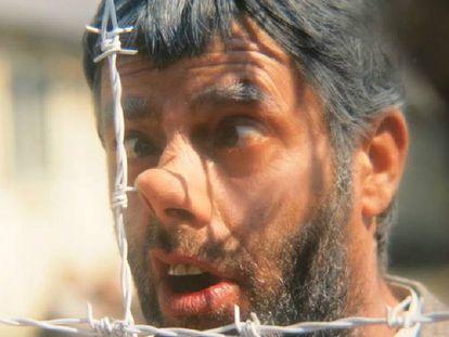Jerry Lewis, em um fotograma no campo de concentração de 'The Day The Clown Cried'