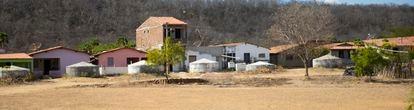 Cisternas em uma comunidade de Senador Pompeu, no Ceará.