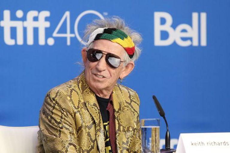 Keith Richards na apresentação de seu documentário em Toronto.