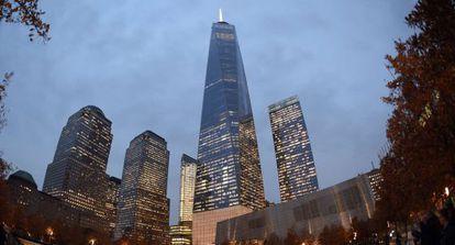 A chamada Torre da Liberdade, arranha-céu mais alto do Ocidente.