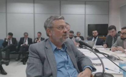Antonio Palocci em um de seus depoimentos.