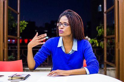 Djamila Ribeiro, em entrevista ao EL PAÍS, em São Paulo.