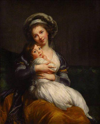 'Autorretrato de Marie Louise Élisabeth Vigée-Le Brun com Sua Filha', 1786, no Museu do Louvre, em Paris.