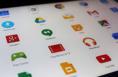 Alguns aplicativos do Google no Google Play.