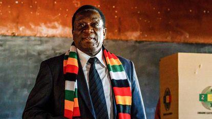 Emmerson Mnangagwa na segunda-feira passada.
