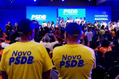 Militantes na XV Convenção Nacional do PSDB, em maio de 2019.