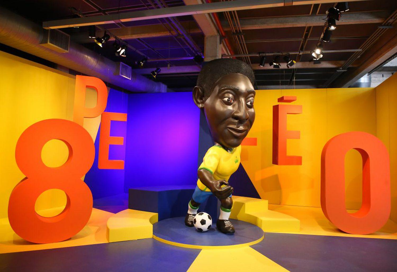 Exposição em homenagem a Pelé, no Museu do Futebol.