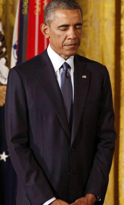 Obama durante um ato pela Guerra do Vietnã, no dia 15.