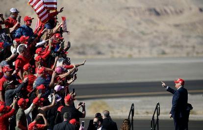 Donald Trump, após um comício no Arizona, em 28 de outubro passado.