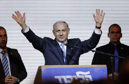 Benjamin Netanyahu celebra vitória em Tel Aviv.