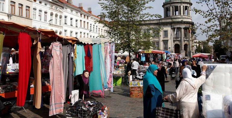 Mercado das pulgas de Molenbeek.