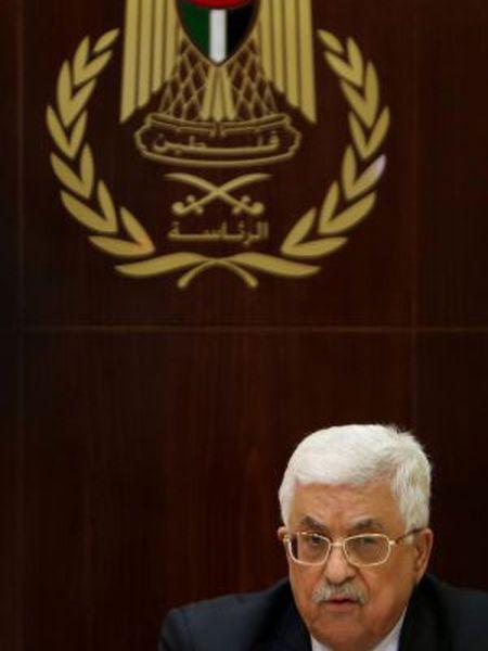 O presidente palestino, Mahmud Abbas, nesta quinta-feira.