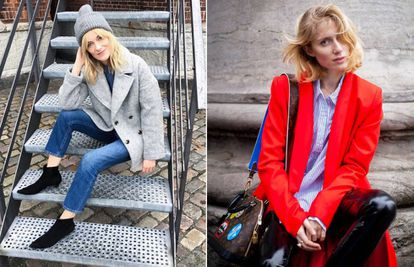 Marie Hindkaer Wolthers e Laura Tonder, dois dos rostos mais requisitados do 'street style' nórdico.