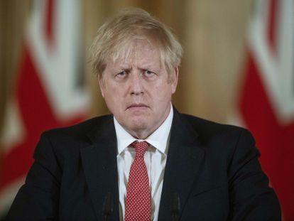 O primeiro ministro do Reino Unido, Boris Johnson, na última sexta-feira.