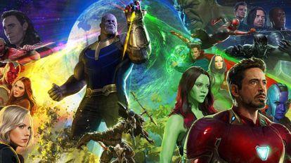 Poster oficial de 'Vingadores: Guerra Infinita'.