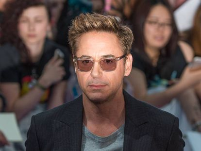 Robert Downey Jr. na estreia de 'Vingadores: A Era de Ultron', em Londres, em 2015. Os filmes da Marvel lhe deram glória na bilheteria e na conta bancária.