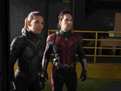 Evangeline Lilly e Paul Rudd, no filme.