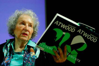 A escritora canadense Margaret Atwood no lançamento do seu livro 'Testamentos', em 2019.
