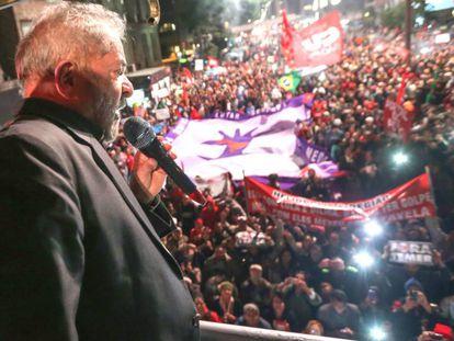 Lula na av. Paulista nesta sexta.