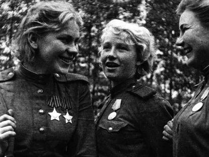 Franco-atiradoras soviéticas da Segunda Guerra Mundial.