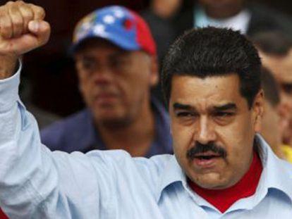 Nicolás Maduro, em ato na sexta-feira em Caracas.