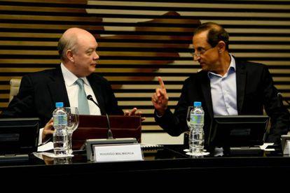 O ministro cubano, Rodrigo Malmierca, e Skaf, da Fiesp.