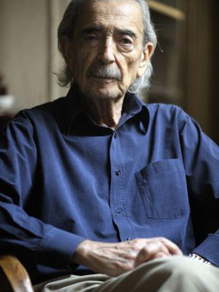 Juan Gelman, em sua casa, em abril do ano passado.