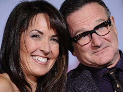 Robin Williams e sua mulher, Susan Schneider, em 2009.