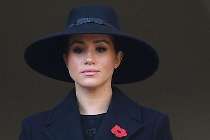 A duquesa de Sussex durante cerimônia no centro de Londres, em 10 de novembro de 2019.
