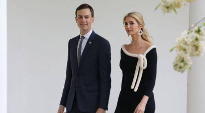 Jared Kushner e Ivanka Trump, em abril na Casa Branca.