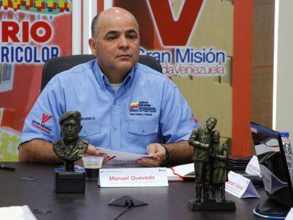 O novo presidente da PDVSA, Manuel Quevedo, em uma foto oficial.