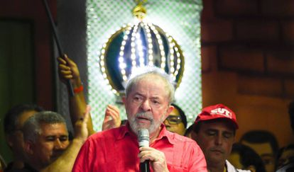Lula, no sábado passado, em ato da CUT no Rio de Janeiro.