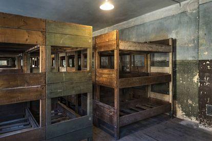 Alojamento de Birkenau conservado do mesmo jeito que estava quando foi liberado.
