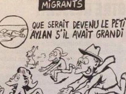 Charge polêmica do 'Charlie Hebdo'.