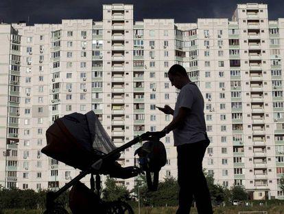 Conjunto residencial na Ucrânia