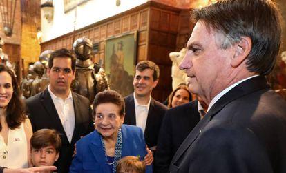 Bolsonaro durante visita ao Instituto Ricardo Brennand, em Pernambuco.