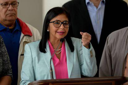 Delcy Rodriguez, presidente da Assembleia Constituinte, que decretou o embaixador brasileiro 'persona non grata'