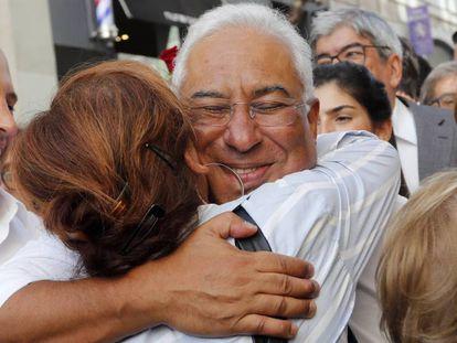 O líder socialista António Costa em um ato eleitoral na sexta-feira em Lisboa.