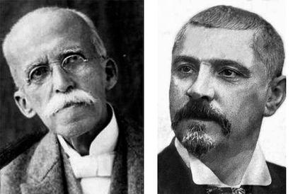 Ruy Barbosa e Júlio de Castilhos: adversário na questão do federalismo.