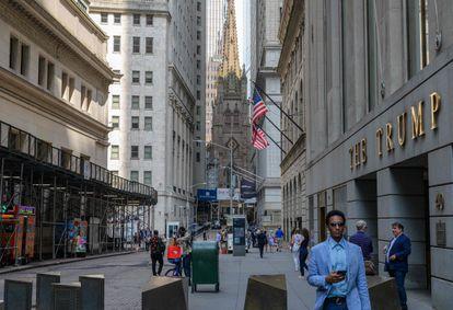Rua da Bolsa de Nova York no dia 15 de julho