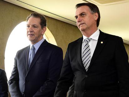 João Otávio de Noronha e o presidente  Jair Bolsonaro, em novembro de 2018.