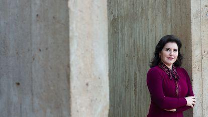 A senadora Simone Tebet (MDB-MS) no Senado Federal. Imagem cedida pela assessoria da parlamentar.