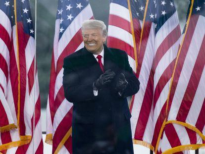 O ex-presidente Donald Trump em um comício perto da Casa Branca, em 6 de janeiro de 2021.