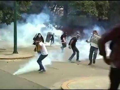 Protestos na Venezuela.