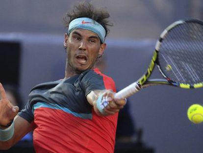 Rafael Nadal, no final contra Dolgopolov.